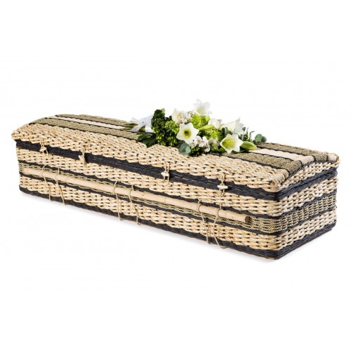 Premium Banana Imperial (Ebony Black) Casket. Environmentally - Friendly Alternatives