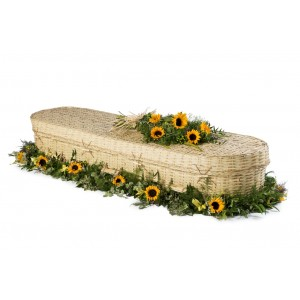 Bamboo Imperial (Oval Style). A Good Choice for an Eco Friendly Funeral - **HANDMADE COFFINS**