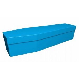 Premium Cardboard Coffin – MEDITERRANEAN BLUE