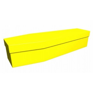 Premium Cardboard Coffin – BUTTERCUP YELLOW