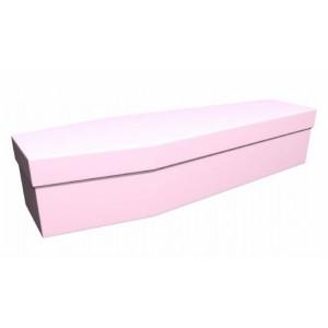 Premium Cardboard Coffin – SOFT PINK