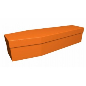 Premium Cardboard Coffin – TANGERINE ORANGE