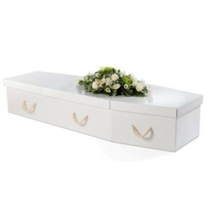 Premium Cardboard Coffin - Diamond White