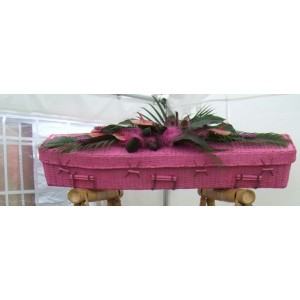 Your Colour Bamboo (Traditional) Coffins – FUSCHIA PINK - Available in a wide range of DULUX colours