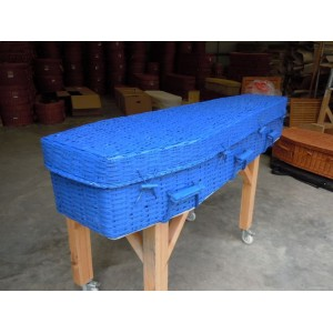 Your Colour Bamboo (Traditional) Coffins – BALI BLUE - Choose from a range of DULUX colours