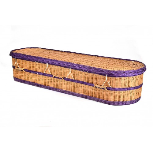 English Wicker / Willow Imperial Oval Coffin – ANTIQUE & PURPLE