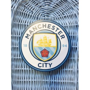 Your Football Team Colours - Wicker / Willow Coffins – Example MANCHESTER CITY FOOTBALL CLUB