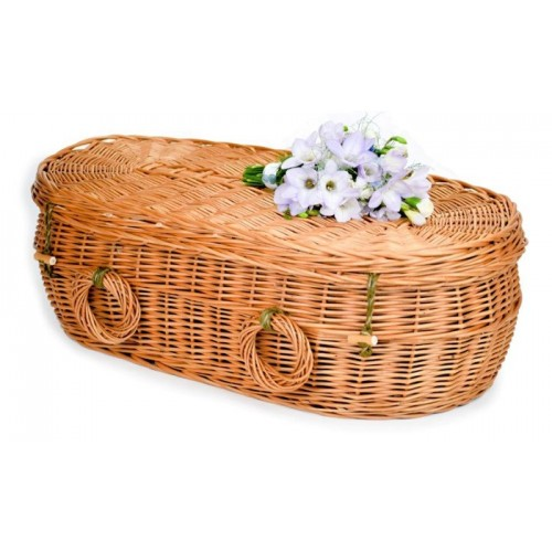 Baby, Infant & Child Natural Brown (Oval Shape) Wicker / Willow Coffins