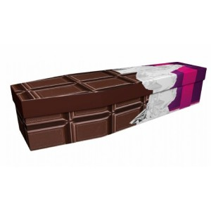 Simply Chocolate – Abstract & Creative Design Picture Coffin