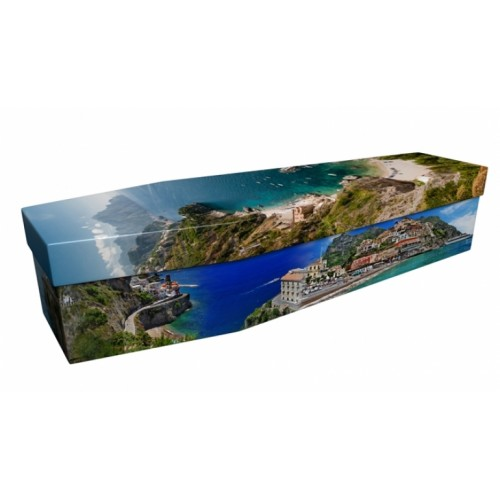 Veni Vidi Amalfi - Abstract & Creative Design Picture Coffin