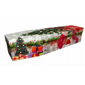 Don't Stop Believing (Christmas) - Abstract & Creative Design Picture Coffin