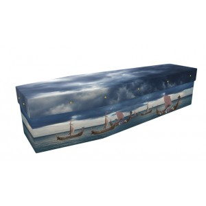 Viking Voyage – Abstract & Creative Design Picture Coffin