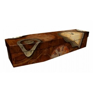 Time – Abstract Design Picture Coffin