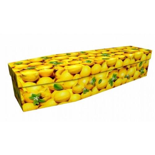 Citrus Lemon – Abstract & Creative Design Picture Coffin