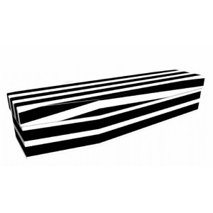 Vogue (Ebony) – Abstract & Creative Design Picture Coffin