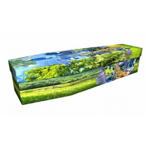 Landscape Jigsaw Puzzle – Abstract Design Picture Coffin