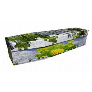 All Seasons Jigsaw Puzzle – Abstract Design Picture Coffin