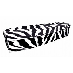 Be Different... (Zebra) – Abstract & Creative Design Picture Coffin