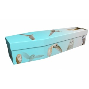 Iconic Owl - Animal & Pet Design Picture Coffin