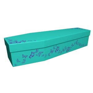 Spread Your Wings & Fly (Butterflies) - Animal & Pet Design Picture Coffin