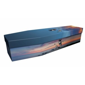 Butterflies By The Sea - Animal & Pet Design Picture Coffin