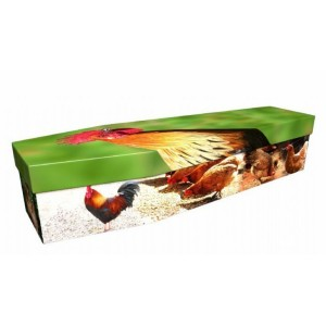 Hen & Chicken - Animal & Pet Design Picture Coffin