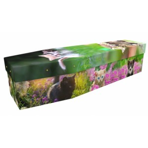 Loving Kitten - Animal & Pet Design Picture Coffin