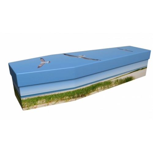 Seagull Beach - Animal & Pet Design Picture Coffin
