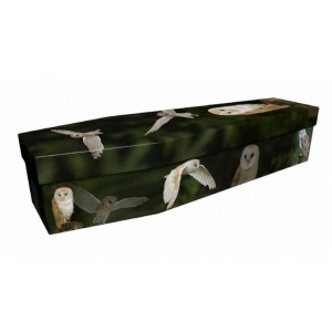 Barn Owl– Animal & Pet Design Picture Coffin