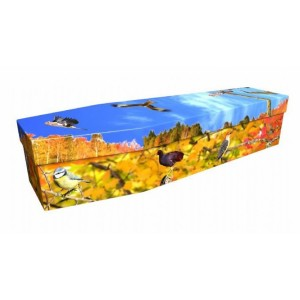 Autumn Birds – Animal & Pet Design Picture Coffin