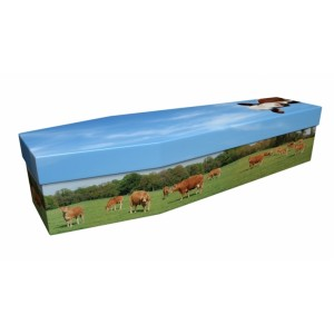 Field of Cows – Animal & Pet Design Picture Coffin