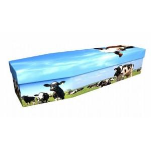 Dairy Cow Farming – Animal & Pet Design Picture Coffin