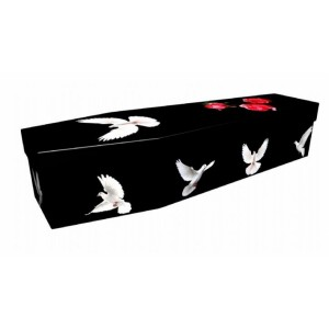 Ascending Doves – Animal & Pet Design Picture Coffin