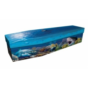 Great White Shark – Animal & Pet Design Picture Coffin