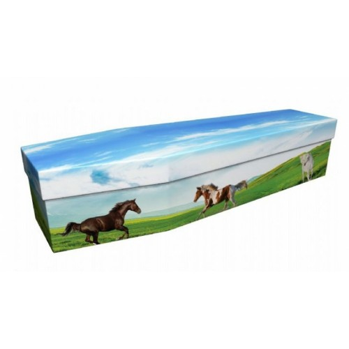 Wild Horses – Animal & Pet Design Picture Coffin