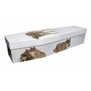 Wolves – Animal & Pet Design Picture Coffin
