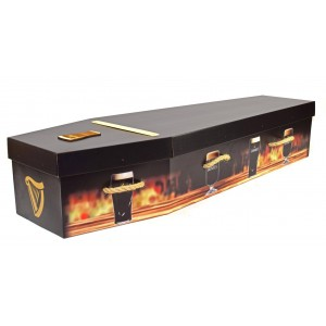 Your Own Design Picture Coffin - Personalised example GUINNESS Design