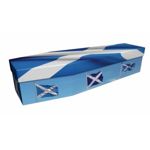 SCOTLAND (St Andrew Scottish Saltire) - Flag Design Picture Coffin