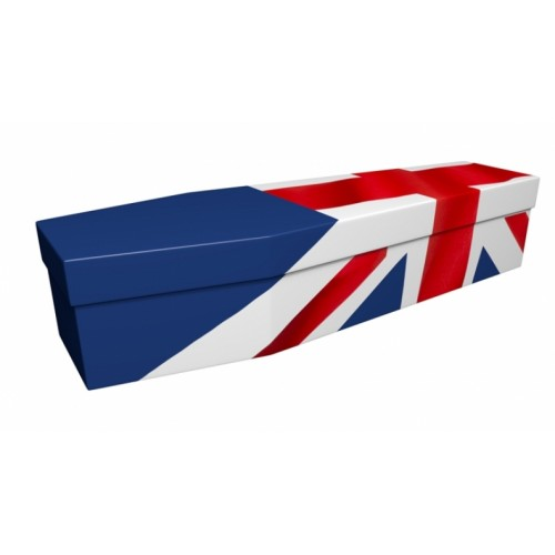 UNION JACK (UK, British, Great Britain) - Flag Design Picture Coffin