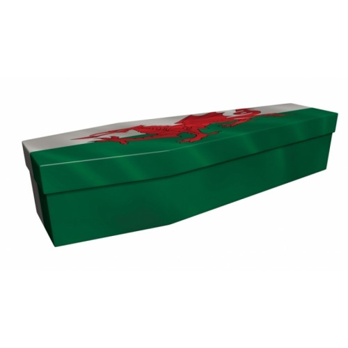 WELSH (Wales, Red Dragon Cymru) - Flag Design Picture Coffin