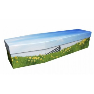 Field of Golden Daffodils – Floral Design Picture Coffin