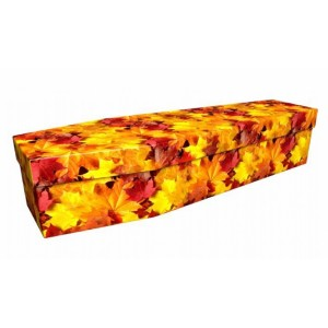 Fallen Autumnal Leaves – Floral Design Picture Coffin