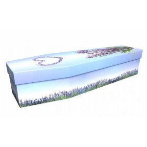 Lavender Love Heart – Floral Design Picture Coffin