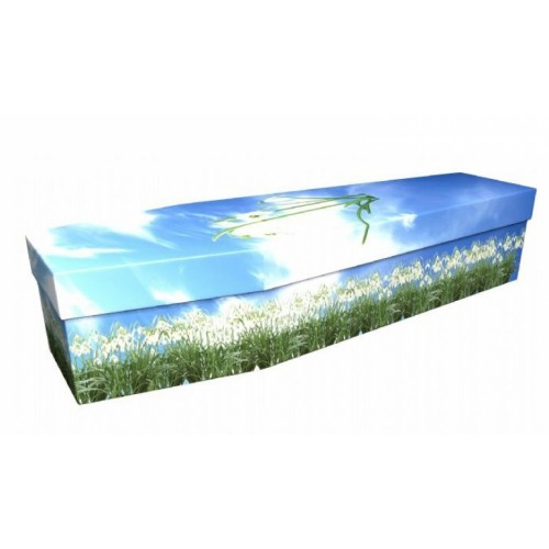 Adorned with Snowdrops  – Floral Design Picture Coffin