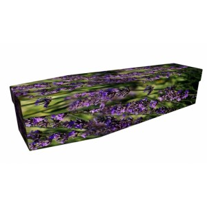 Love for Lavender – Floral Design Picture Coffin
