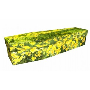 Daffodils Yellow Trumpet – Floral Design Picture Coffin