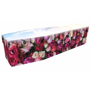 Rest with Roses - Floral Design Picture Coffin