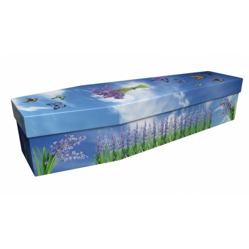 Butterfly & Bluebell - Floral Design Picture Coffin