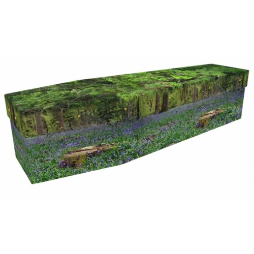 Bluebell Woods - Floral Design Picture Coffin