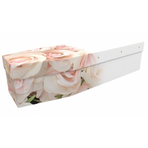 Loved Beautiful Roses - Floral Design Picture Coffin